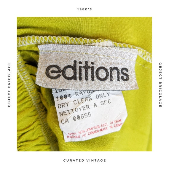 80's Chartreuse Skirt - image 5