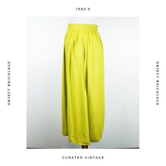 80's Chartreuse Skirt - image 2