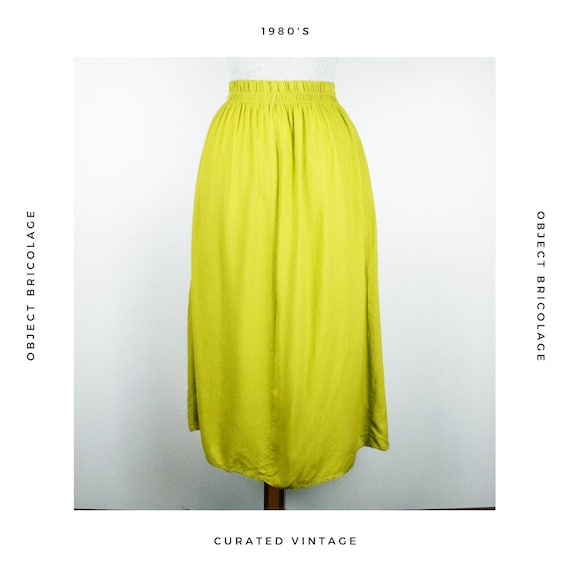80's Chartreuse Skirt - image 3