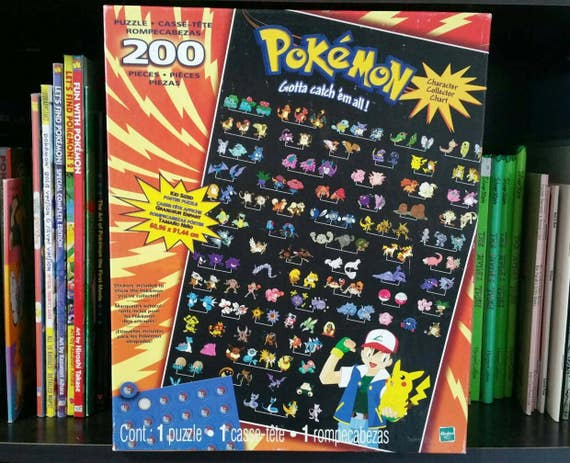 pokemon gotta catch them all 200 pieces 150 original etsy