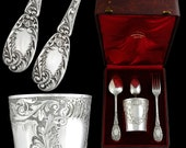 rench Sterling Silver and Gold Tumbler - Flatware Set
