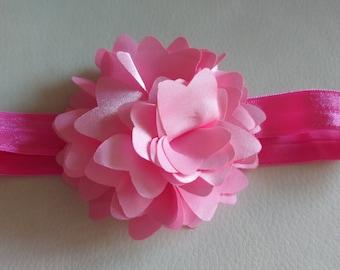 Pink baby headband - Pink bow headband, flower headband,  baby headbands, baby hair bows, baby bows, newborn headband, bows