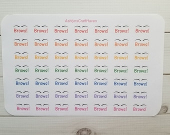Eyebrow Planner Stickers- Perfect For Any Planner- Erin Condren, Happy Planner, Filofax