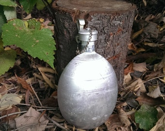 Vintage Military Canteen, Army Bulgarian Flask from 1970s, Soldier Aluminum Mess Tin, Gift Idea
