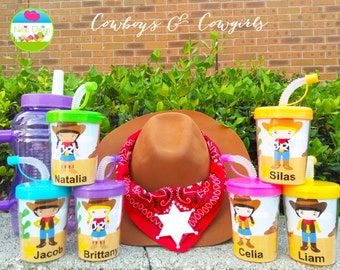 Wild Western Cowboy's & Cowgirl's Party Favor Cups Set of 6, Wild Western Party Favors