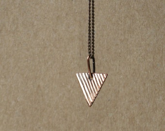 Geometric jewelry for Mom gift ideas for Women necklace Triangle necklace Tiny necklace Minimalist necklace Copper pendant necklace chain