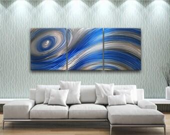 Charmant Metal Wall Art, Modern Wall Art, Metal Wall Sculpture, Wall Decor, Wall  Hanging, Blue Wall Art, Livingroom Wall Decor, Abstract Wall Decor,