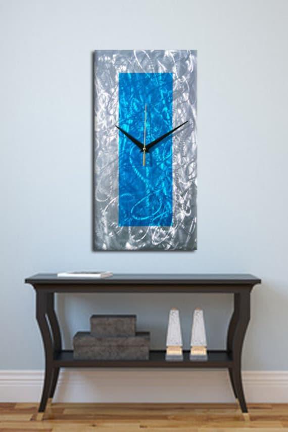 Modern Metal Wall Clock Contemporary Wall Clock Abstract Etsy