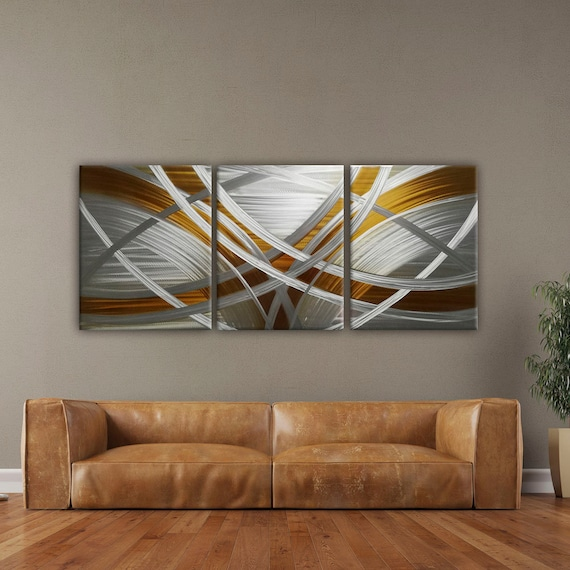 Abstract Metal Wall Art Modern, Contemporary Metal Wall Art For Living Room