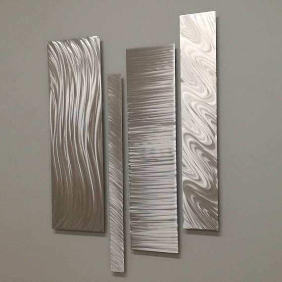 Silver Metal Wall Art Modern Metal Wall Art Modern Etsy