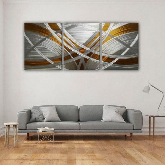 Abstract Metal Wall Art Modern Metal Wall Painting Modern Etsy