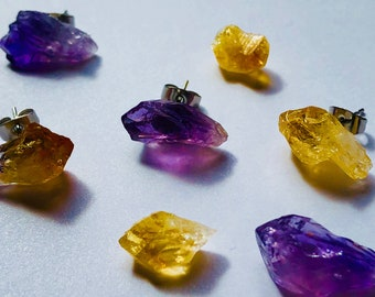 Raw Crystal One-Of-A-Kind Stud Earrings