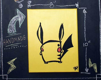 "Kachoo! 8"" x 10"" hand painted canvas. Chu!"