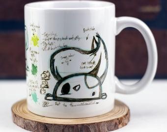 Derpasaur sketch mug 11 oz ceramic