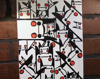 """Chu-Many. 8"""" x 10"""" hand painted canvas...the stuff of nightmares."""