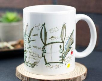 Kachoo sketch mug 11 oz ceramic