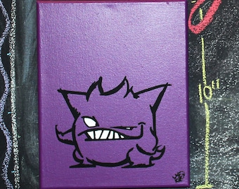 """Genghole. 8"""" x 10"""" hand painted canvas."""
