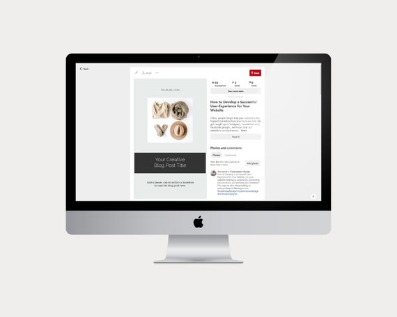 Pinterest Templates Blog Post Templates Social Media Etsy