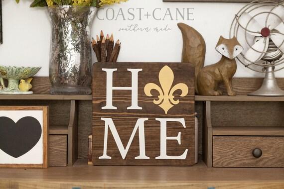southern home sign fleur de lis sign creole sign cajun sign etsy
