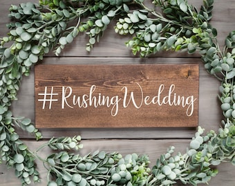 Wood hashtag wedding sign Wedding sign Wood wedding sign Stained wedding sign Instagram wedding sign Wedding table sign Wood wedding decor