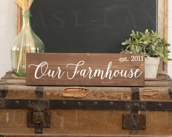 Our farmhouse sign Farmhouse sign Farmhouse established Farmhouse welcome Rustic farmhouse sign Farmhouse decor Family farmhouse