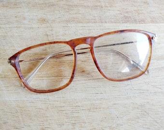 65ee5c8d70f Yuppie 80 s 90 s vintage carey tortoise clear prescription eyeglasses frames  - never used by Interoptica Ultralight