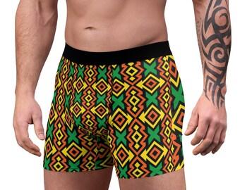 Mens Comfortable Underwear Ethnic African with Animals Boxer Briefs for Men