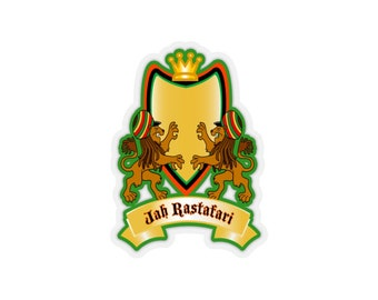 0c32606e3 Jah Rastafari Kiss-Cut Stickers RLW2454