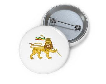 pins pin/'s flag badge metal lapel hat button lion rasta haile selassie reggae