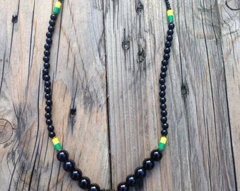 JAMAICAN BEADS Weaved NECKLACE RLW397