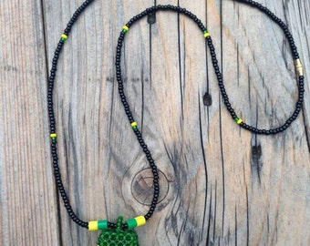 JAMAICAN BEADS WEAVED necklace RLW406