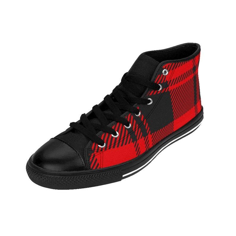 Maasai Print WomenS HighTop Sneakers Rlw2064