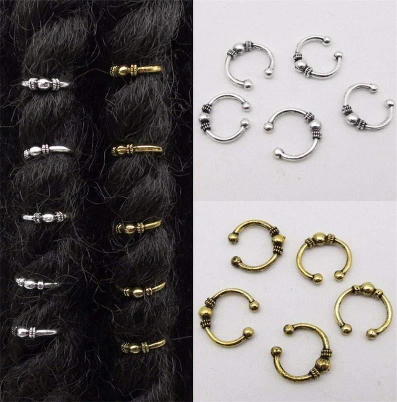 5pcs-10pcs GoldSilver Plated Adjustable Hair Braids Dreadlock Beads RLW2871