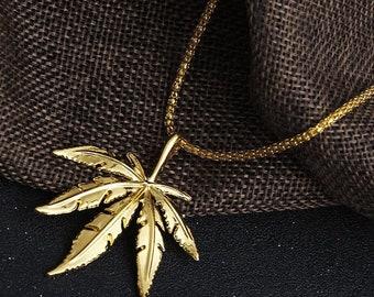 Big leaf/herb pendants/ necklace rlw1749