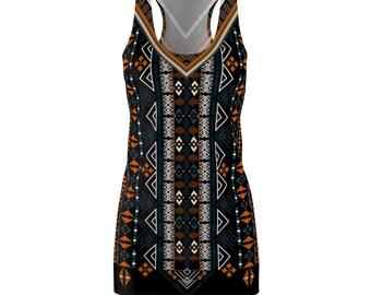 African Print Dashiki Style Racerback Dress Rlw1850