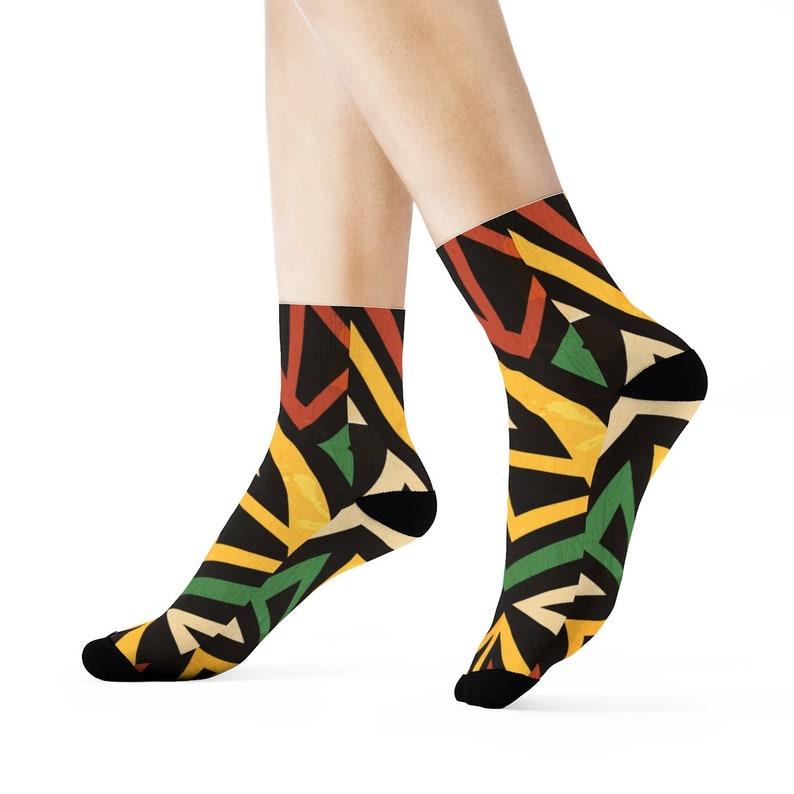 4f137b7447 African Print Crew Socks Rlw2204