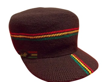 Wicked hand crotched Rasta hat/snapback RLW257