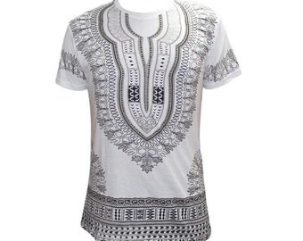 African men's short sleeve  dashiki style t-shirt rlw929