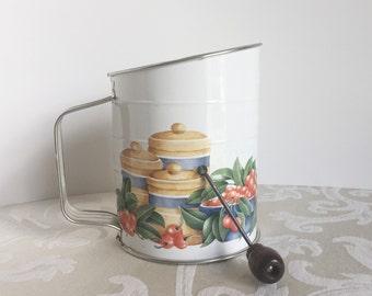 Bromwell's Vintage Measuring Flour Sifter Susan Lowenstein 1995 Design Country Farmhouse Kitchen Decor Kitchen Gadgets