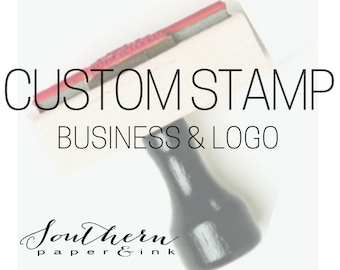 Custom Stamp - Rubber Stamp - Logo Stamp, Business Stamp - Branding Stamp - Large Custom Rubber Stamp -Self Inking Custom Stamp Packaging