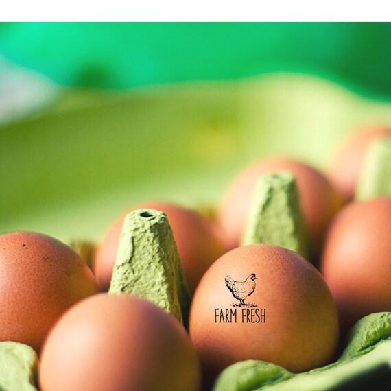 Farm Fresh Eggs Stamp Chicken Farm Stamper Chicken Lover Gift
