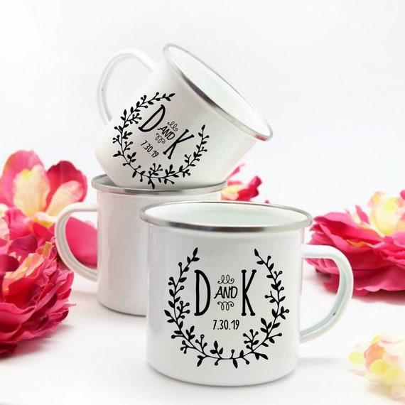 Engagement Mugs Campfire Mugs Couples Gift Personalized