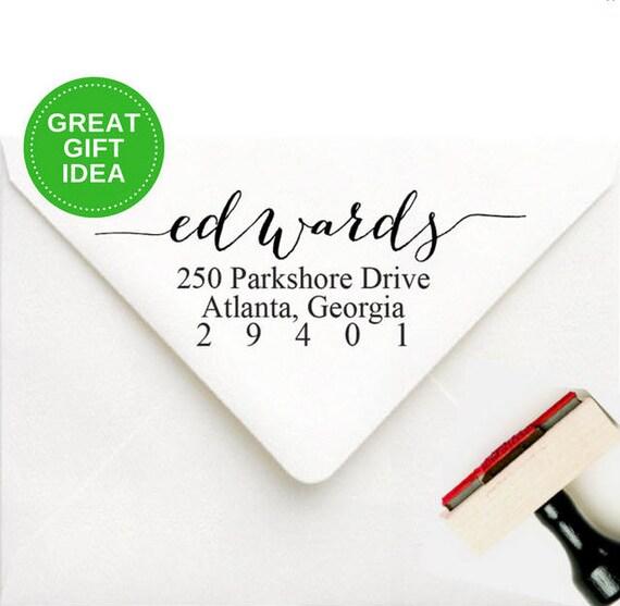 self inking address stamp modern wedding invitation rsvp return