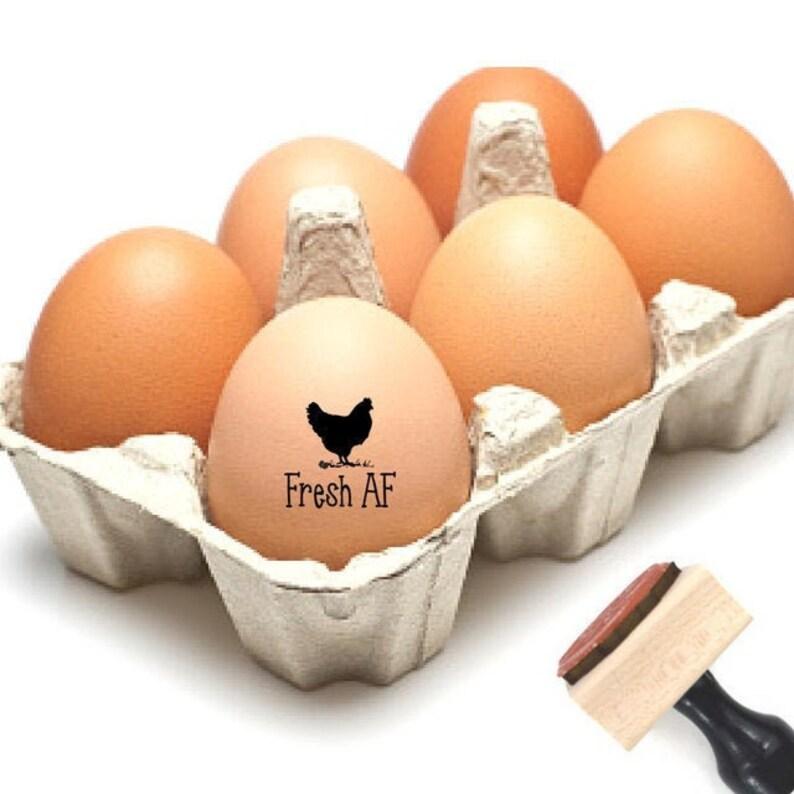 Funny Chicken Gift Chicken Coop Rubber Stamp Mini Homesteader Naughty Gag Gift For Him Hen Picture Design Stamp Fresh AF Egg Stamp