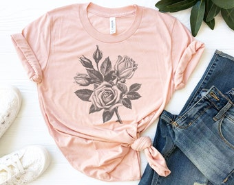 Floral T Shirt Etsy