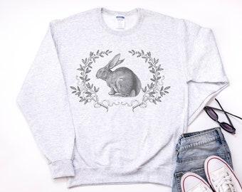 Vintage Bunny Sweatshirt with Laurels