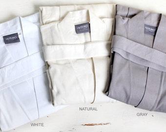 100% ORGANIC COTTON Men's Spa & Bath Robe Kimono, Super Soft, Lightweight, Luxurious, Absorbent, Non-Toxic, Eco-Friendly (6 Colors)