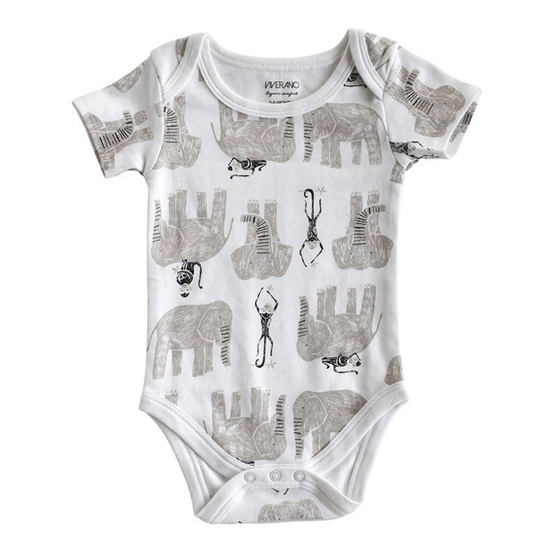 3dbed2896 100% Organic Cotton Jersey Baby Romper Bodysuit Short Sleeve
