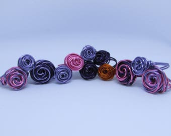 Wire Wrapped Rose Rings