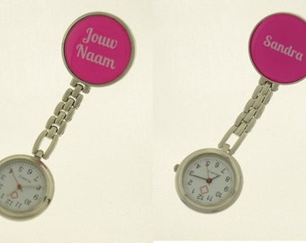 89b4bf9be Nurse watch with your Name - Personalised / personalized gift for nurses or  caretakers